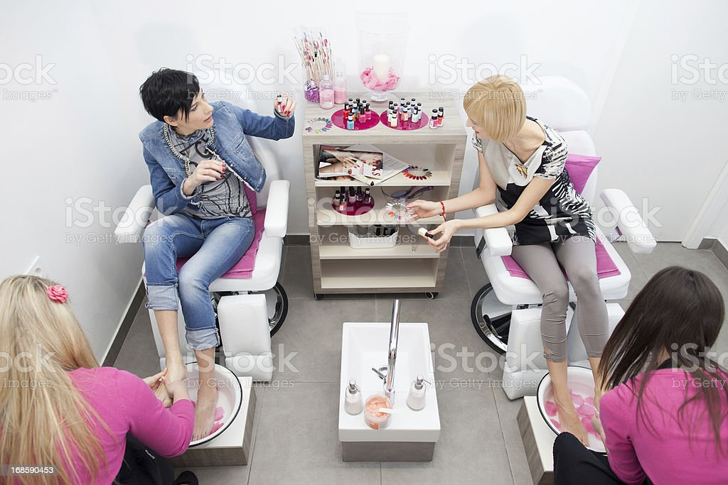 Manicure and pedicure royalty-free stock photo