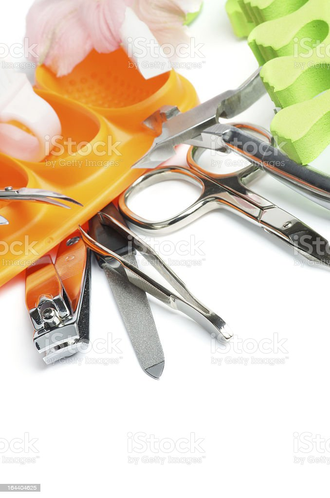 Manicure and Pedicure Set royalty-free stock photo