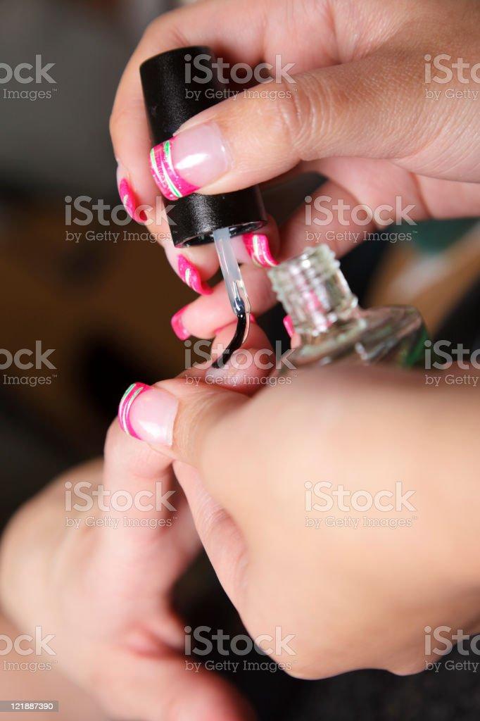 Manicure Close Up royalty-free stock photo