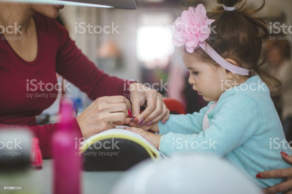 Manicure for girls stock photo