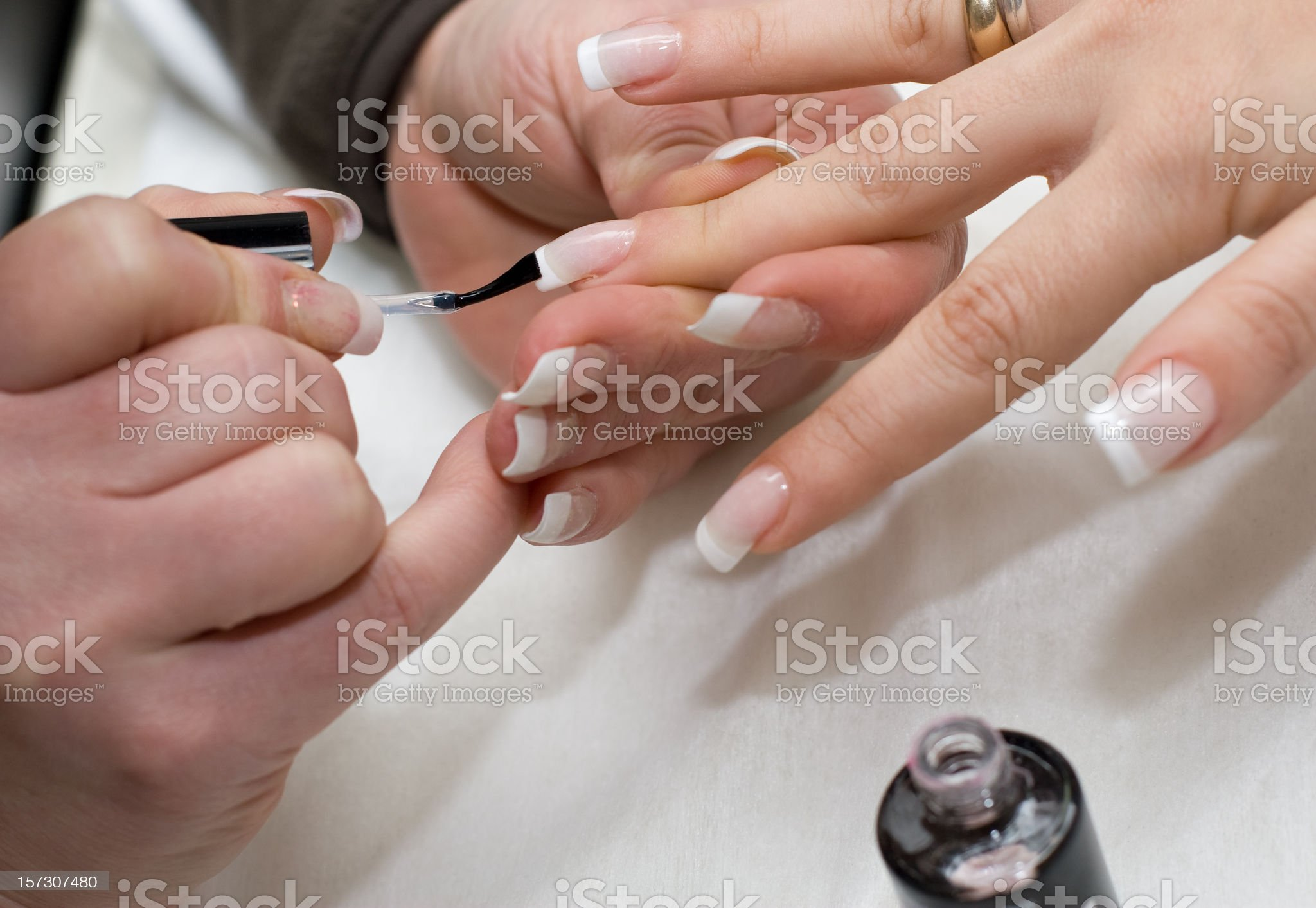 Manicure making royalty-free stock photo