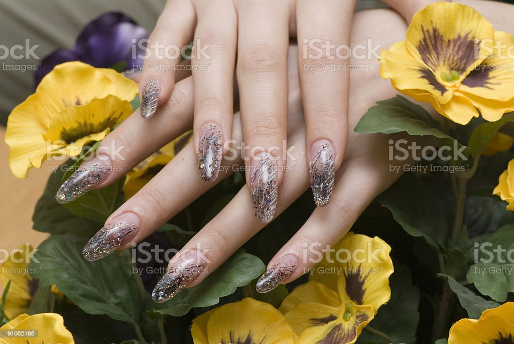 Manicure one's nails royalty-free stock photo