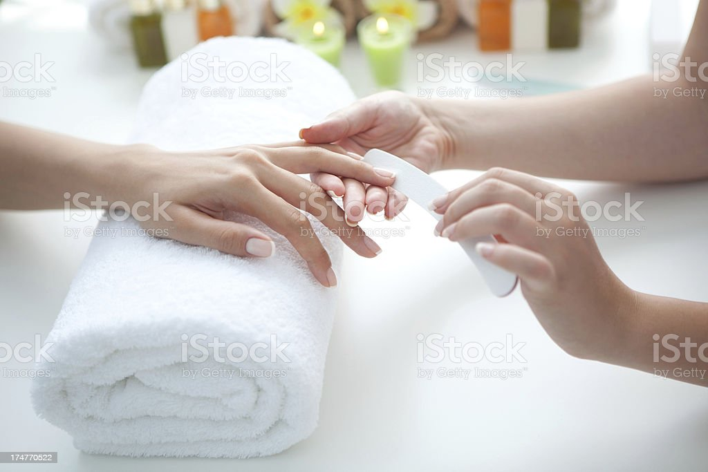 Manicure. royalty-free stock photo