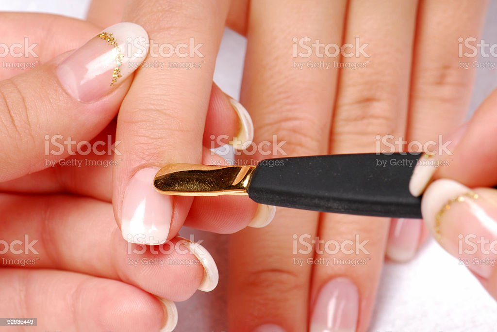 manicure scapula royalty-free stock photo