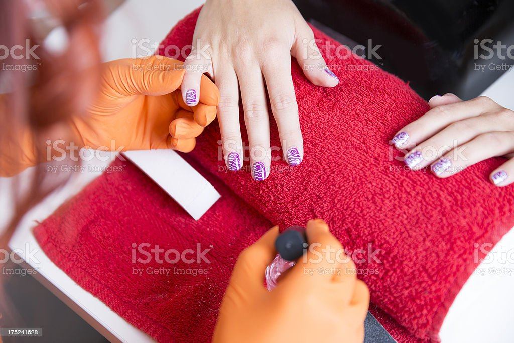 Manicure treatment...nail art stock photo