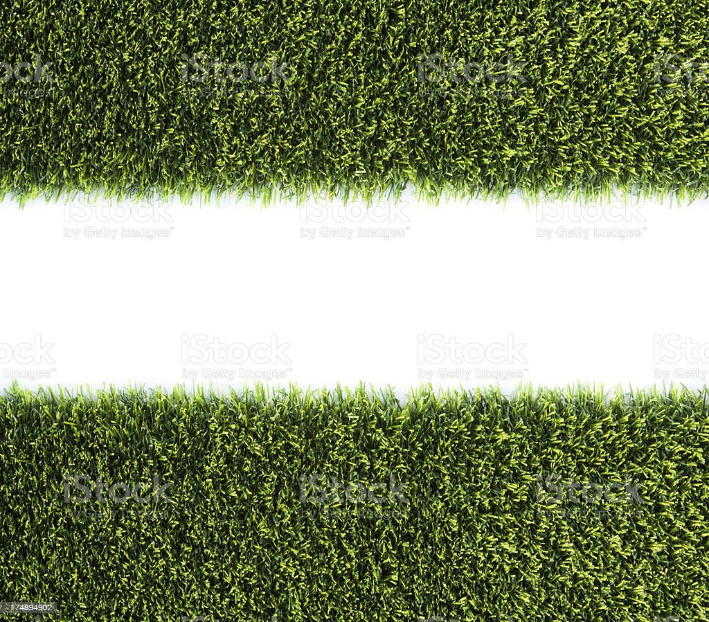 Manicured Green Grass border stock photo
