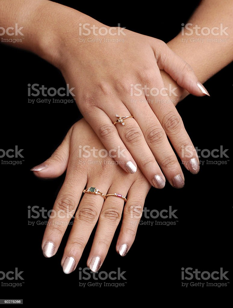 manicured hands royalty-free stock photo
