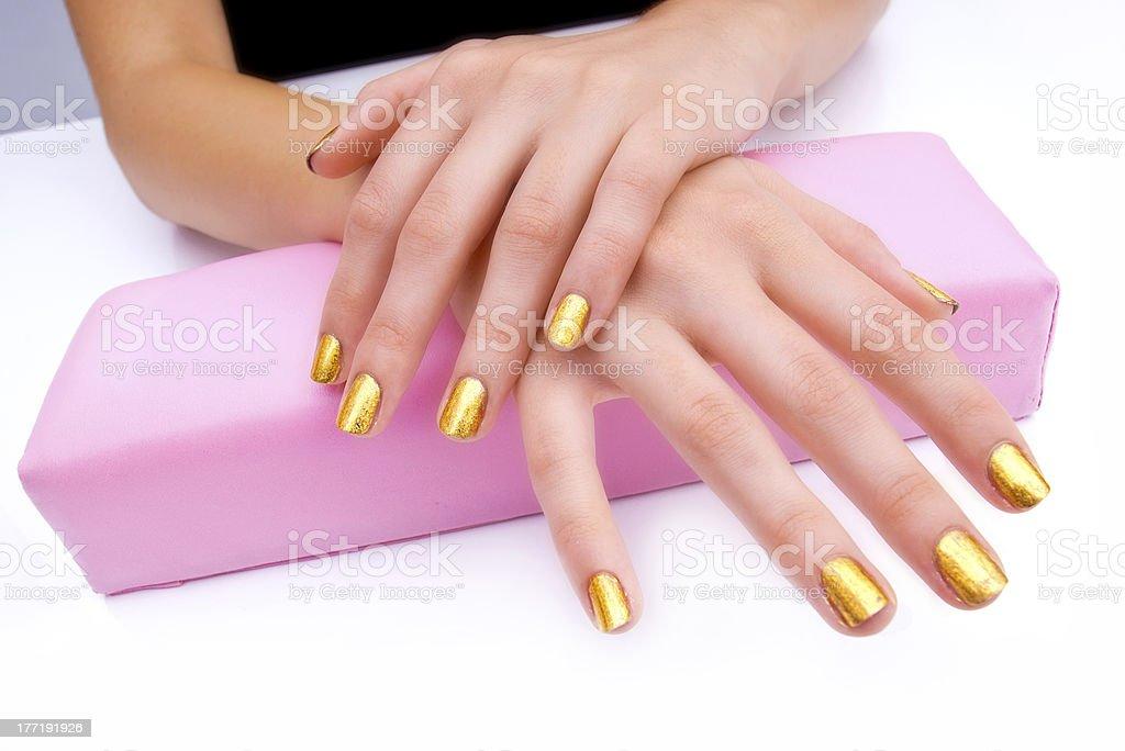 manicured woman fingernails royalty-free stock photo