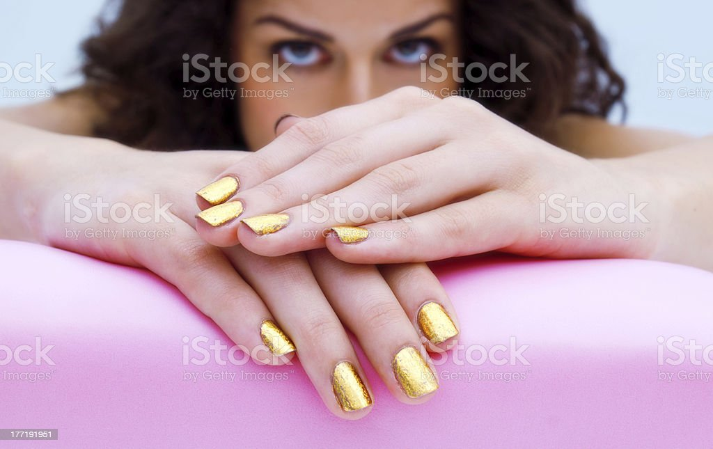 manicured woman fingernails royalty-free stock photo