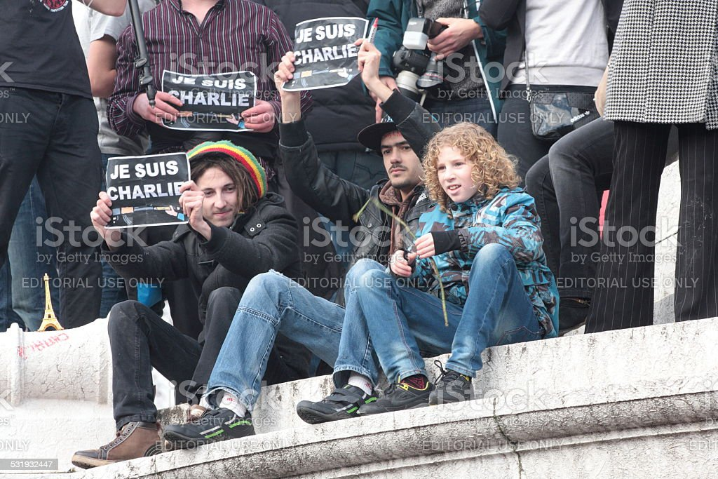 Manifestation in Paris stock photo