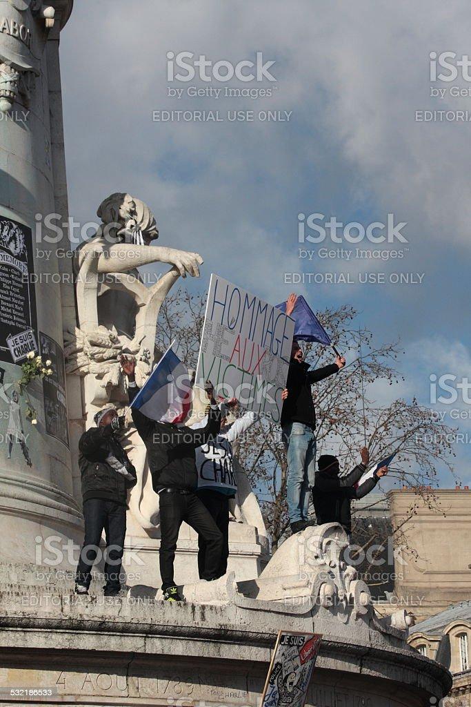 Manifestation in Paris stock photo