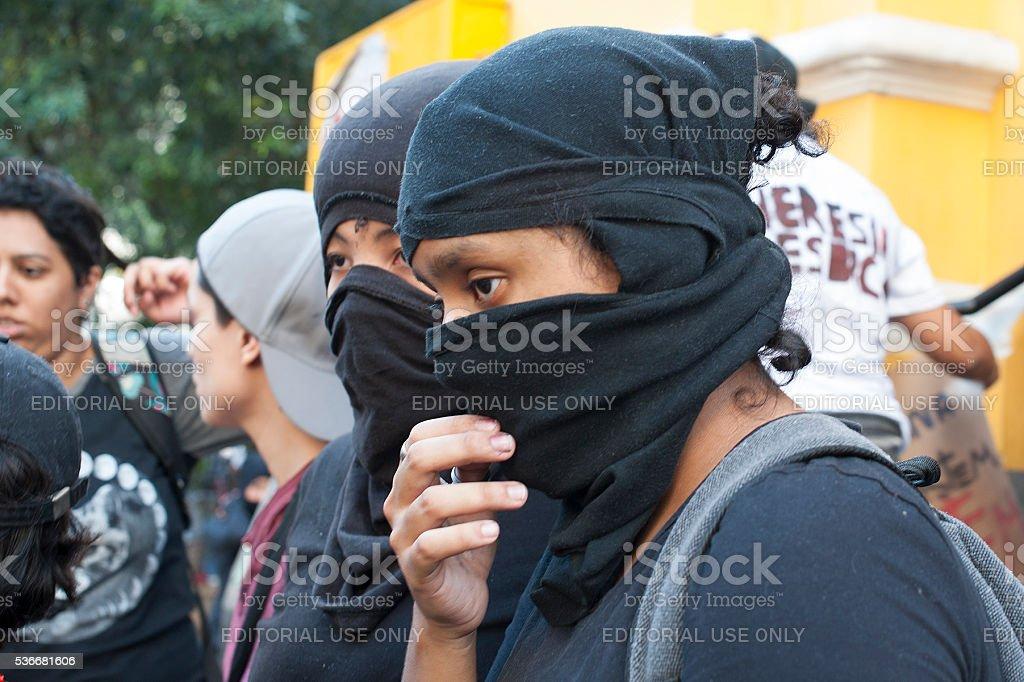 Manifestation of Gay Women stock photo