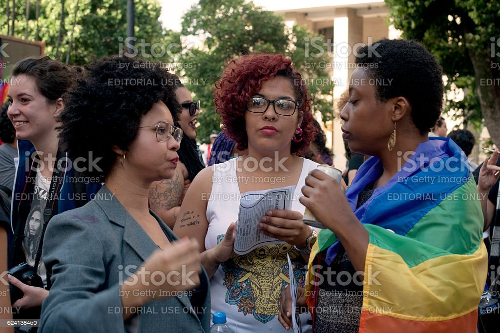 Manifestation of Gay Women stock photo