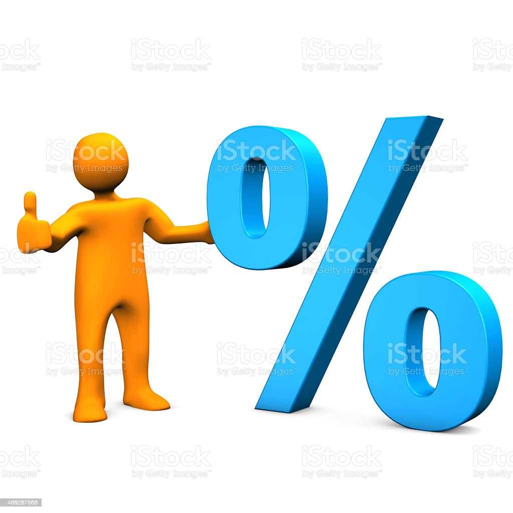 Manikin Percent Ok stock photo