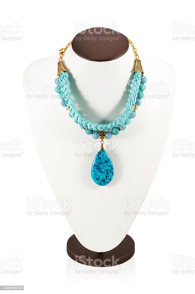 Manikin with necklace stock photo