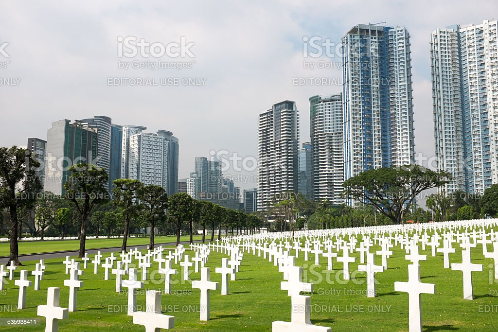 Manila American Cemetery royalty-free stock photo