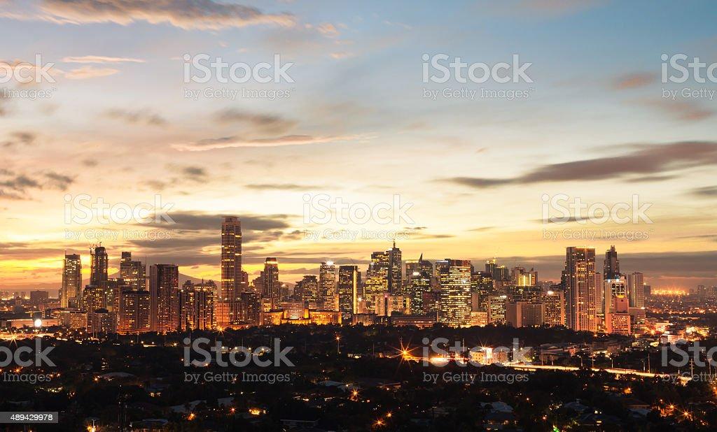 Manila at night stock photo
