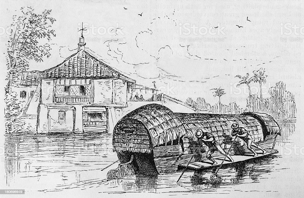 Manila Barge on the Passig royalty-free stock photo