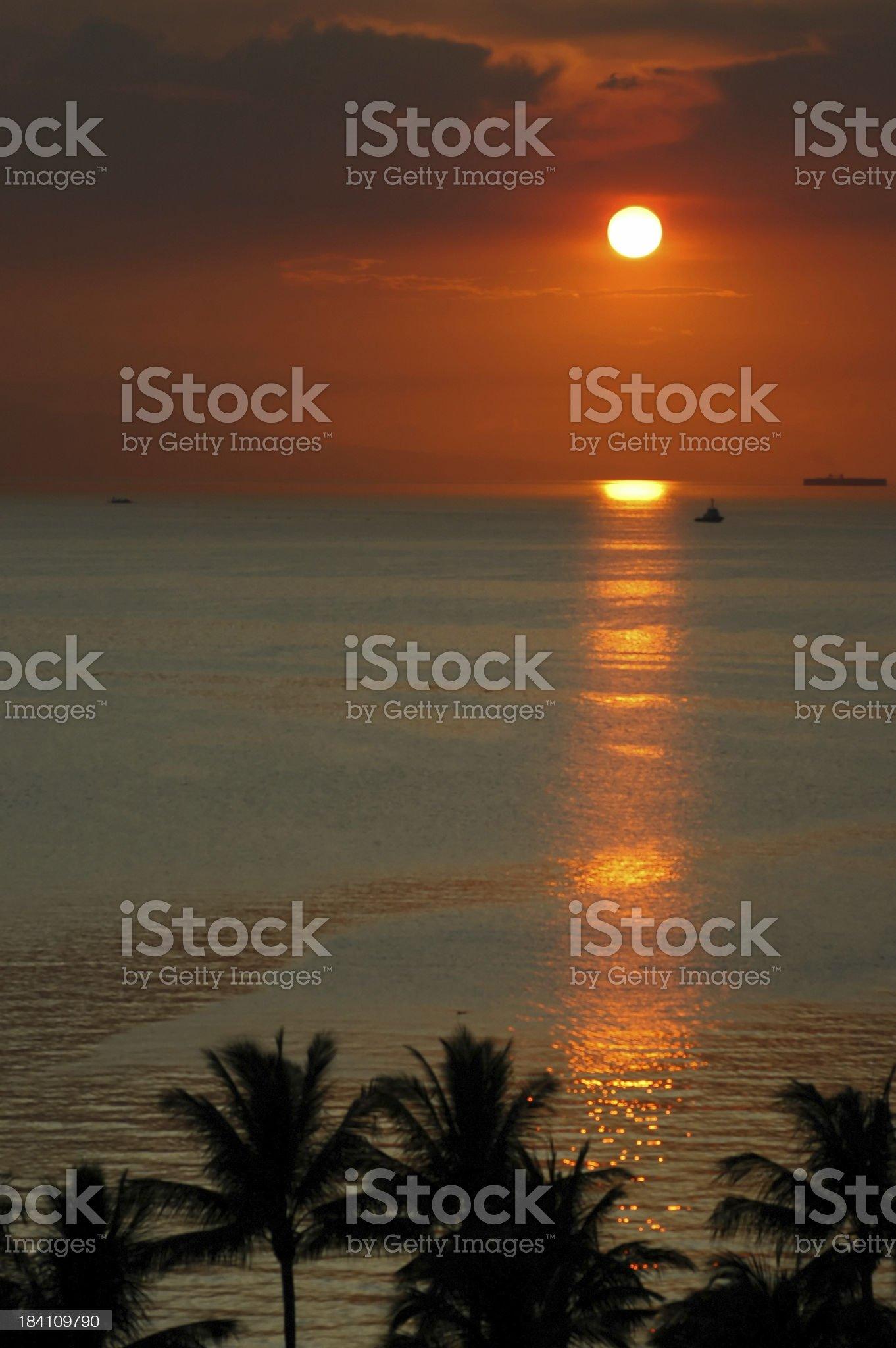 Manila Bay Sunset royalty-free stock photo