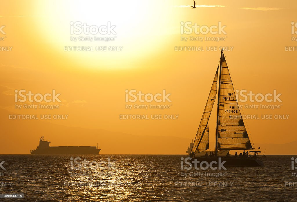 Manila Bay Sunset royalty-free stock photo