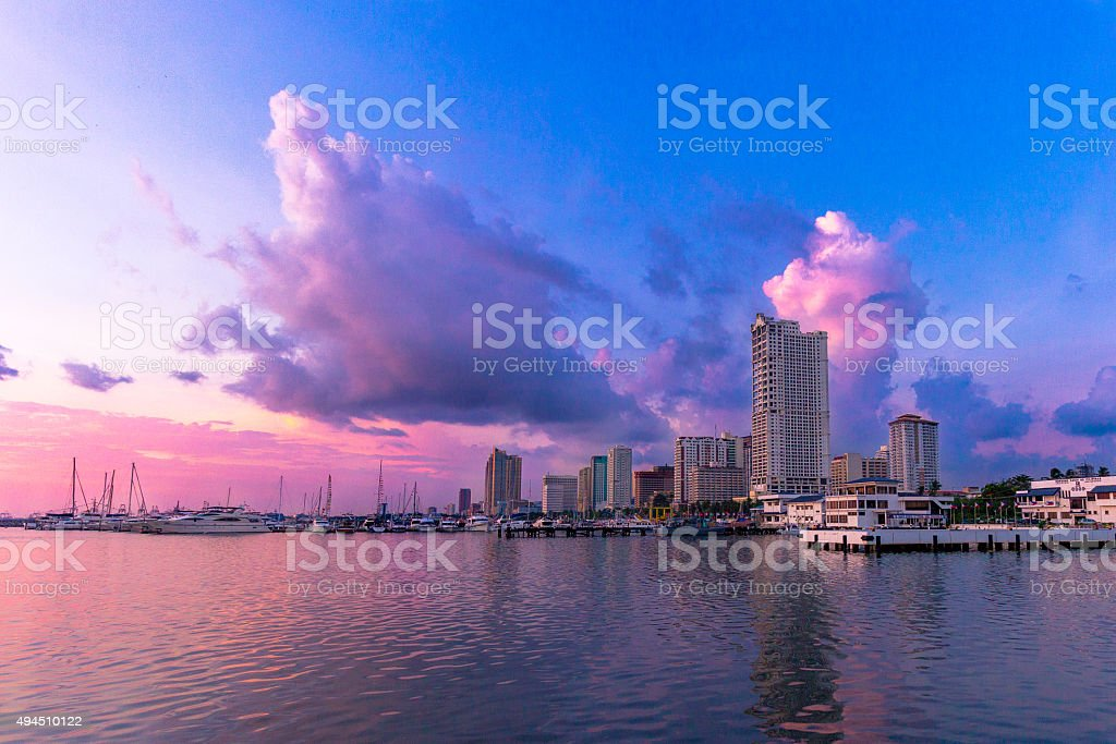 Manila Bay Sunset stock photo