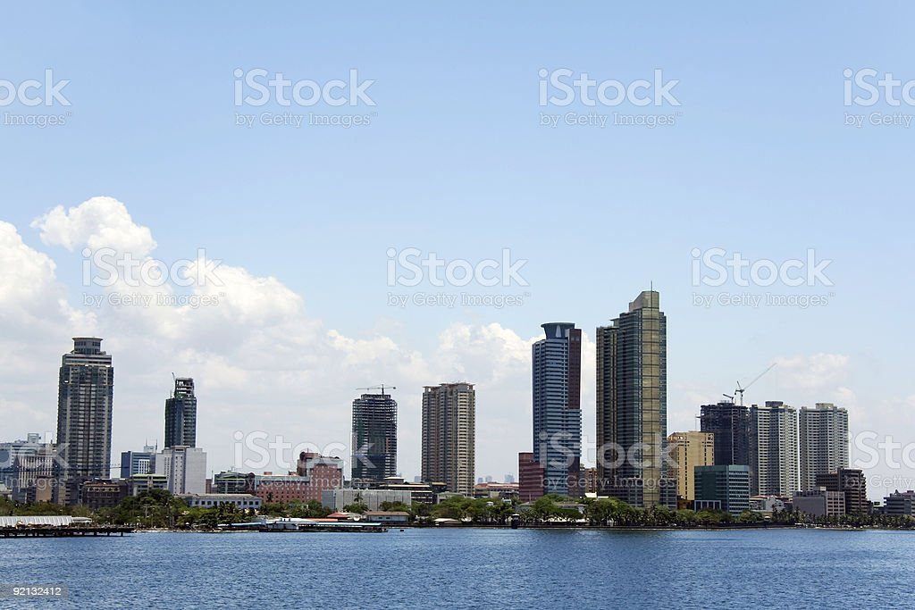 manila baywalk city skyline philippines royalty-free stock photo