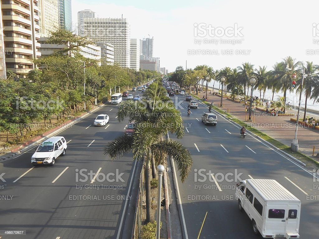 Manila baywalk, Philippines stock photo