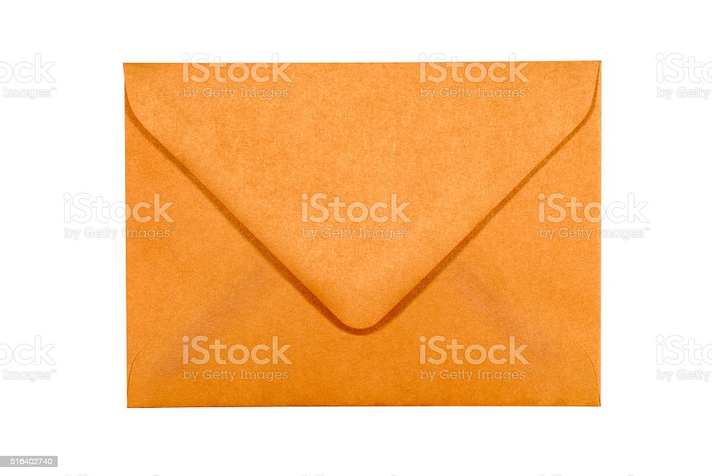 Manila brown paper envelope isolated on white background stock photo