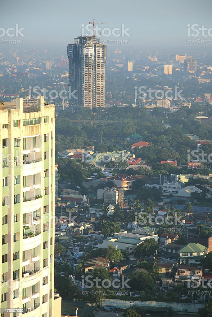 Manila Buildings royalty-free stock photo
