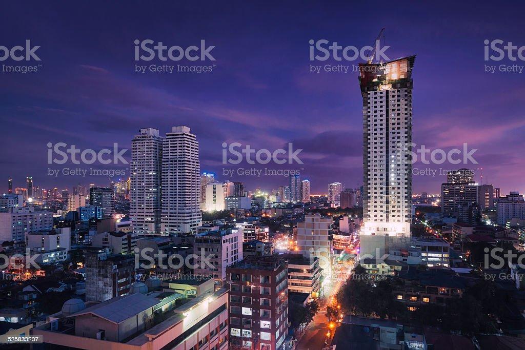 Manila by night stock photo