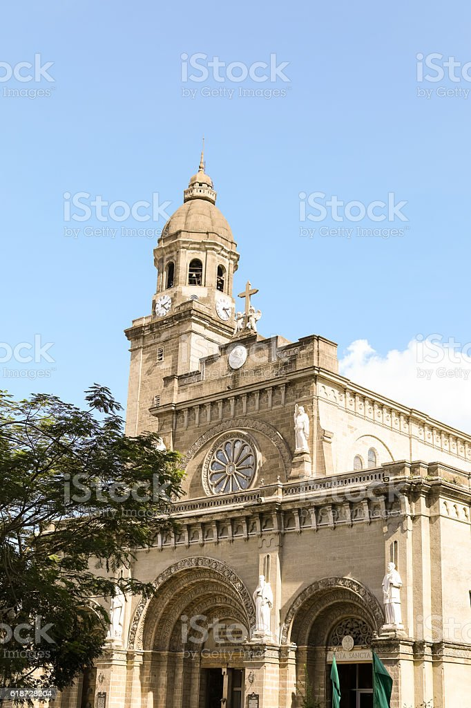 Manila Cathedral in Intramuros, Philippines stock photo