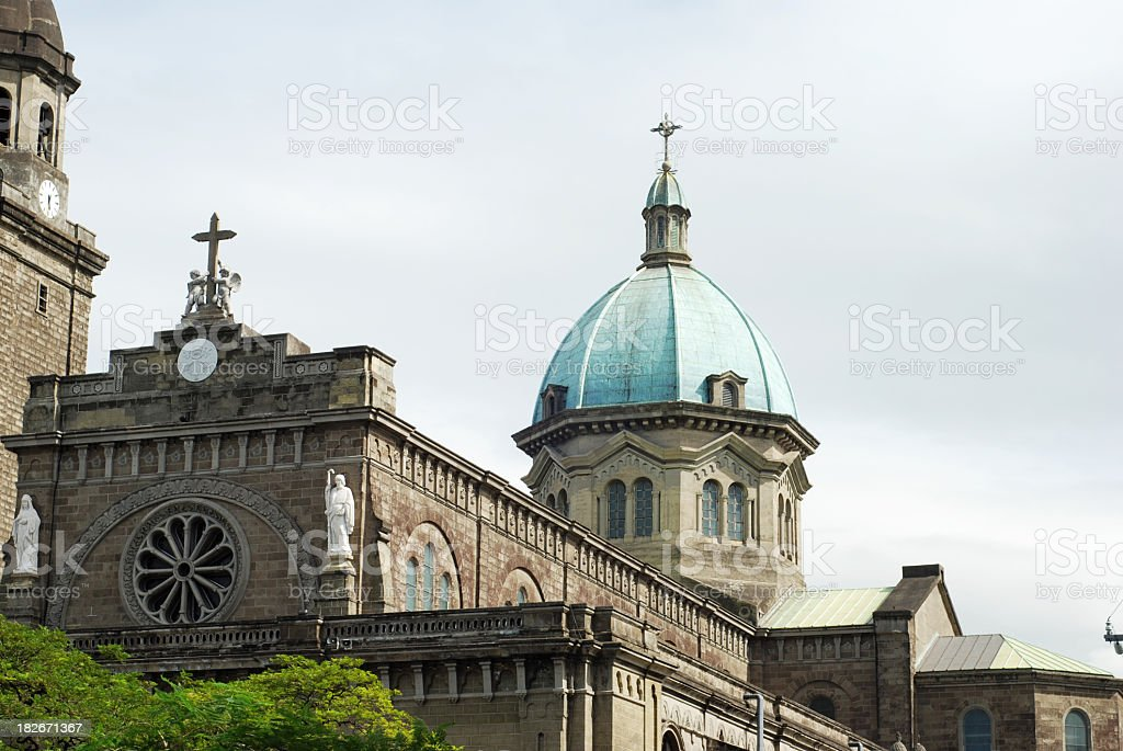 Manila Cathedral in Philippines stock photo