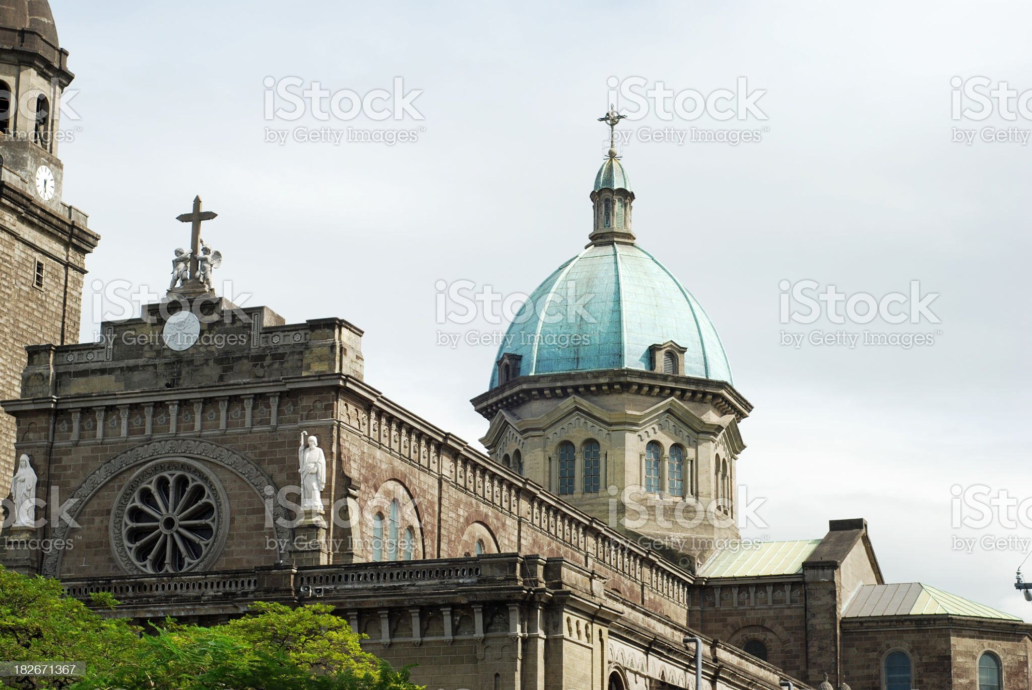 Manila Cathedral in Philippines royalty-free stock photo