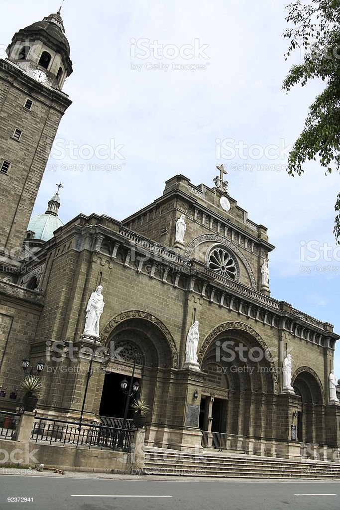 manila cathedral intramuros philippines royalty-free stock photo