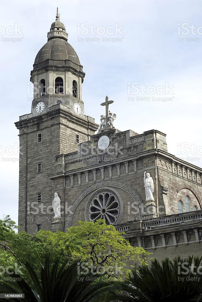 Manila Cathedral, Philippines royalty-free stock photo