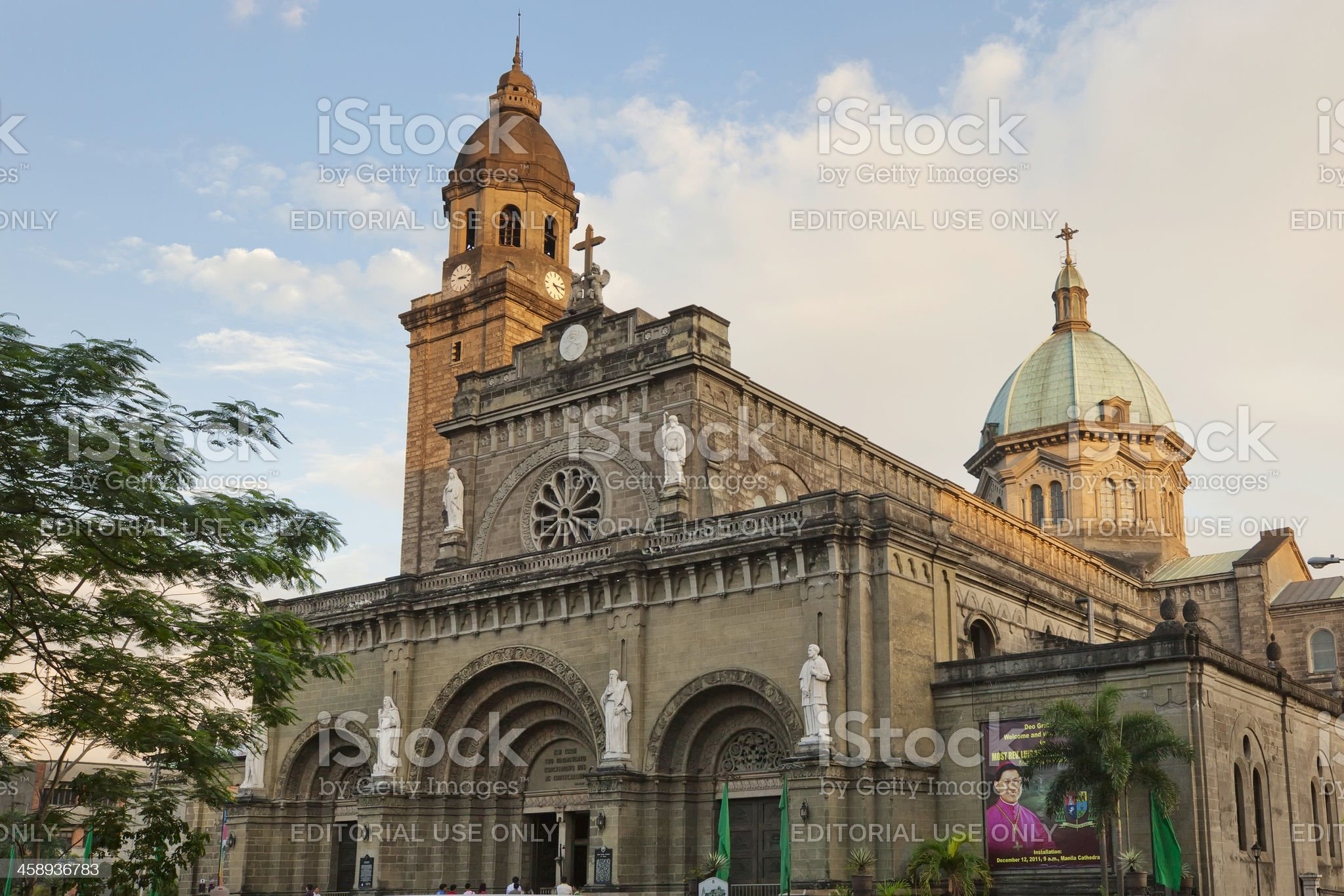 Manila cathedral royalty-free stock photo