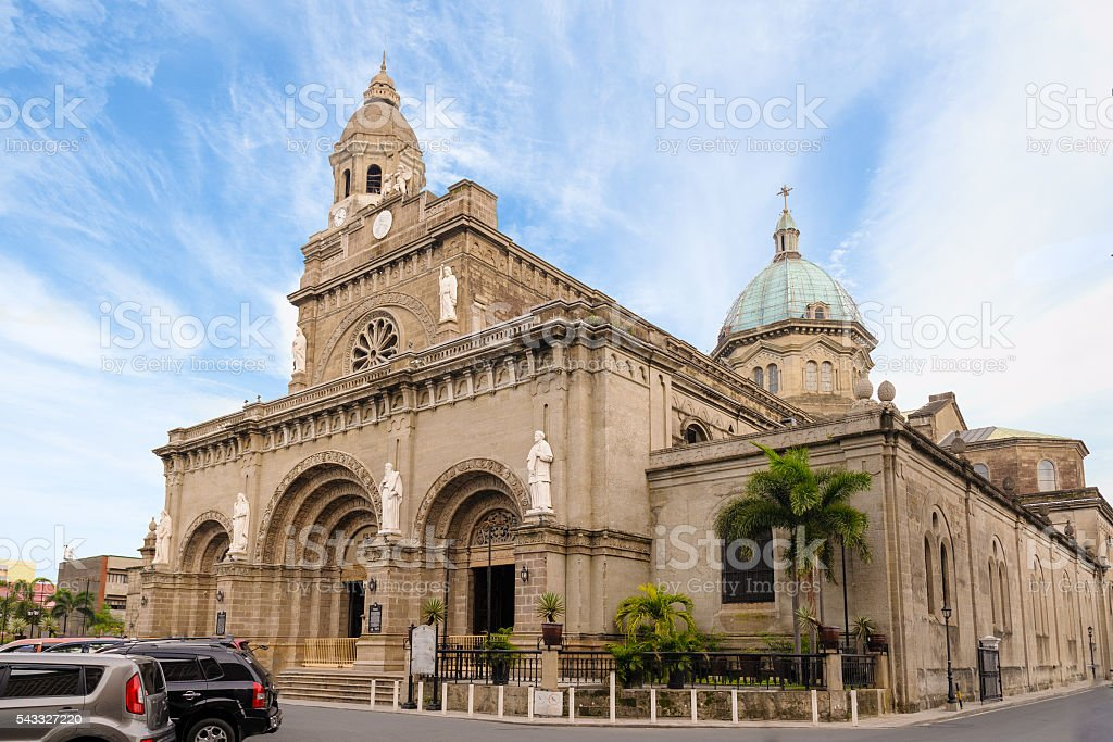 Manila Cathedral stock photo