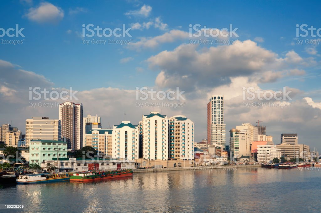 Manila city stock photo