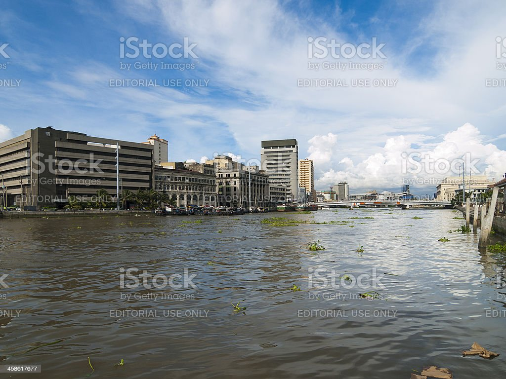 Manila City Skyline royalty-free stock photo