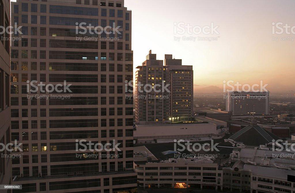 Manila City Sunrise royalty-free stock photo
