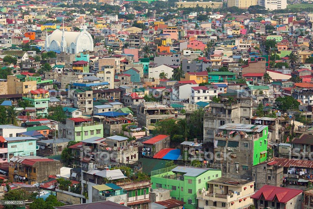 Manila city view stock photo