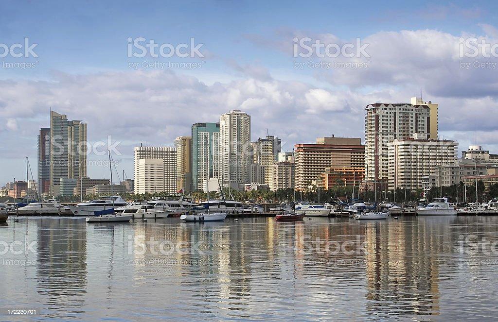 Manila cityscape stock photo