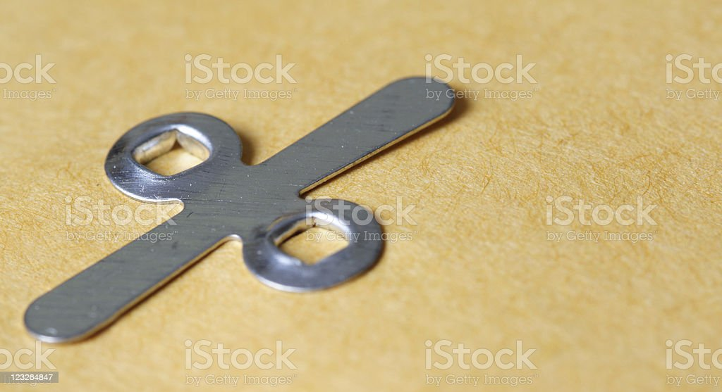 Manila Envelope Fastener Clip stock photo