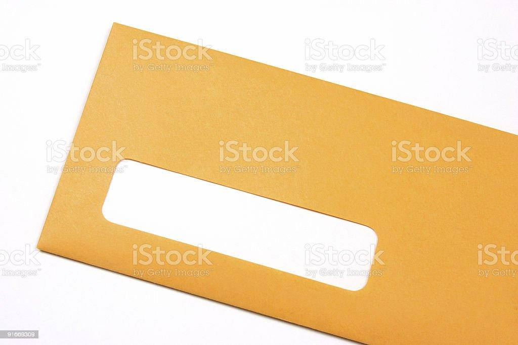 Manila envelope oblique royalty-free stock photo