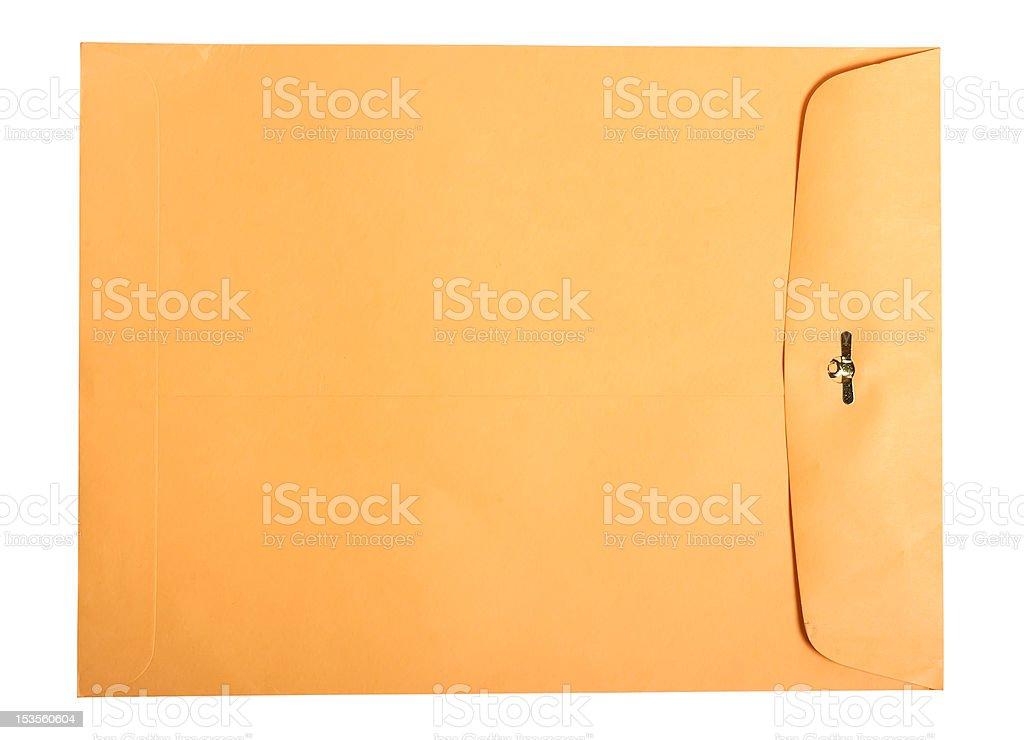 Manila Envelope (Isolated) royalty-free stock photo