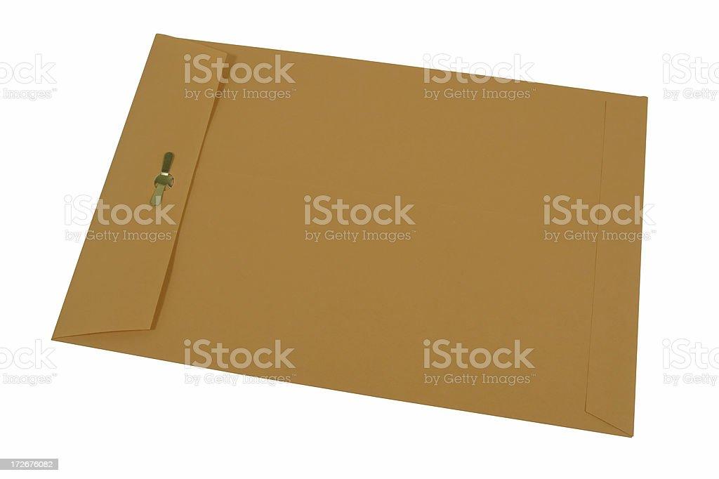 Manila Envelope (Isolated) royalty-free stock photo