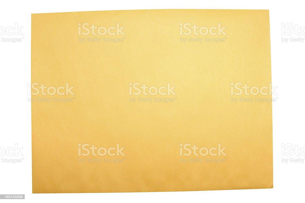Manila Envelope royalty-free stock photo