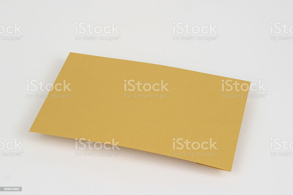 Manila Envelope stock photo