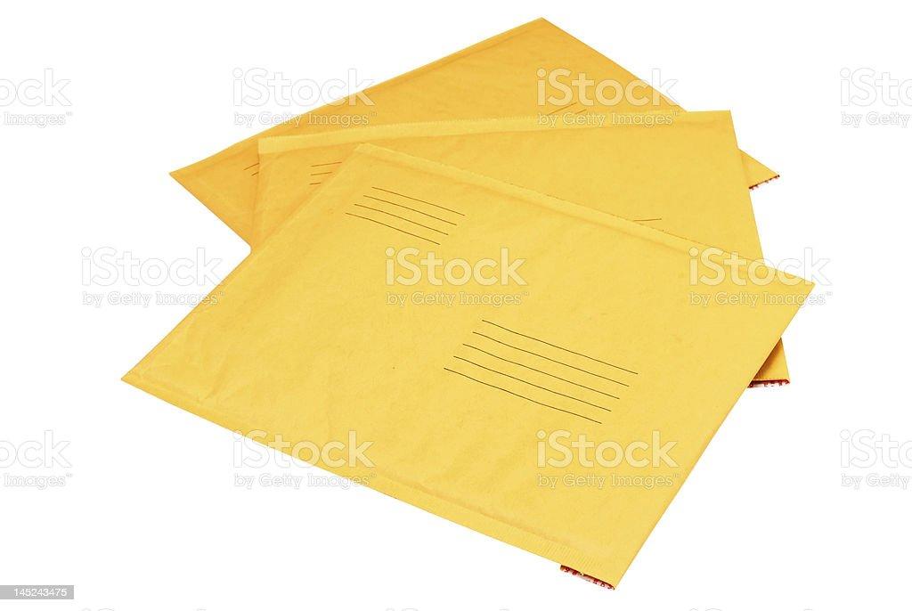 Manila Envelopes Isolated royalty-free stock photo
