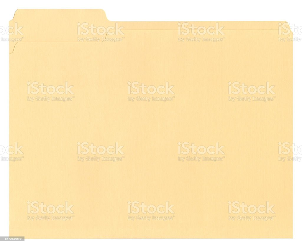 Manila file folder on white background royalty-free stock photo